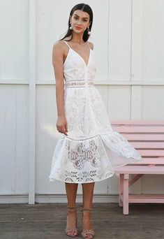 Strap sexy lace summer dress women V neck button casual white dress female Backless streetwear midi dress vestidos 2018 Material: Polyester Style: Casual Silhouette: A-Line Decoration: Lace Dresses Length: Mid-Calf Sleeve Style: Spaghetti Strap Waistline: Empire Neckline: V-Neck SHIPPING TIME: 12=20 DAYS TO CHOOSE RIGHT SIZE PLEASE SEE THE SIZE CHART Size S / cm M / cm L / cm US 4-6 8-10 12 UK 8 10 12 AU 8 10 12 EU 34-36 38-40 42 Bust Recom mend 86-90 90-94 94-98 Waist Tile 68 72 76 66-69…