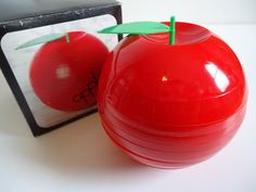 Vintage Plastic Apple Novelty Coasters Tray Saucer by POPWILDLIFE, $15.00