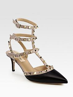 Valentino Rockstud Leather Slingback Pumps....need these in my life!