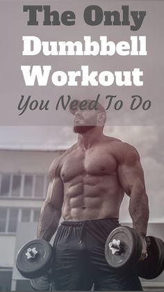 Dumbbell Workout Routine, Full Body Dumbbell Workout, Full Body Workout Routine, Biceps Workout, Daily Exercise Routines, Home Workout Men, Gym Workout For Beginners, Gym Workout Tips, Chest Workout For Men