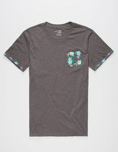 BLUE CROWN Tropical Space Flower Mens Pocket Tee 264323110 | Solid & Stripe Tees