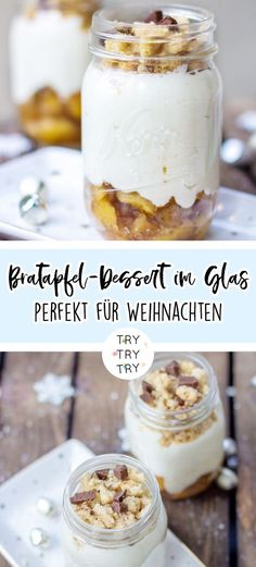 Bratapfel-Dessert im Glas {Foodie Christmas} – Nutella Baked Apple Dessert, Dessert Oreo, Apple Desserts, Mini Desserts, Winter Desserts, Christmas Desserts, Desserts In A Glass, Cake Recipes, Dessert Recipes