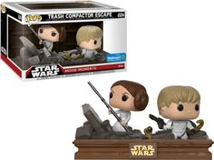 Trash Compactor Escape - Luke & Leia Star Wars Walmart Exclusive Funko Pop! Vinyl | Popspedia.com