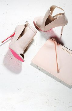 New Arrivals! Carvela 'Glance' cut out sandals with pink sole