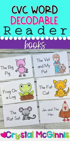 CVC Word Books (Decodable Readers) for New Readers