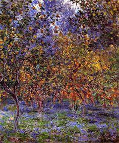 Claude Monet. Under the Lemon Trees (1884).