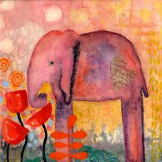 I love elephants..and Wyanne is an awesome artist!
