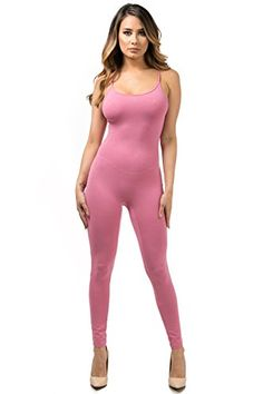 New Trending Bodysuits: Staand Apparel Womens Sexy Spaghetti Strap Catsuit Unitard Tank Jumpsuit - One Piece Bodysuit Rompers Playsuit Party (Medium, Dusty Rose). Special Offer: $14.99 amazon.com Spaghetti strap ankle length jumpsuit95% Cotton 5% SpandexSpaghetti strapAnkle lengthThis product is made in our own manufacturer through an emphasis on quality and customer service.Hand Wash cold, Do not bleach, hang dry