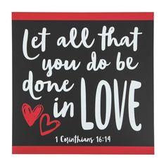 Featuring 1 Corinthians this black and red valentine sign is a thoughtful Valentine's Day gift for someone special. Religious home décor is . Valentines Day Food, Valentine Day Crafts, Be My Valentine, Valentine Quote, Valentine Ideas, Valentine Banner, Valentines Day Hearts, Diy Valentine's Day Decorations, Valentines Day Decorations