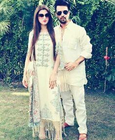ᴬᵀᴵᶠ ᴬˢᴸᴬᴹ ᴺᴰ ˢᴬᴿᴬ Cute Couple Pakistani Wedding Outfits, Pakistani Bridal, Pakistani Dresses, Indian Dresses, Indian Outfits, Frock Fashion, Fashion Outfits, Atif Aslam Wife, Stylish Couple