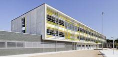 fachadas ventiladas -sistema masa - IES Vilanova del Vallès