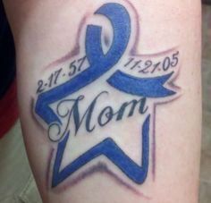 Star tattoos for men in order to go distinguished from that of women, usually take the form of rugged nautical stars. Men star tattoos have to have a masculine appeal. Colon Cancer Tattoos, Cancer Ribbon Tattoos, Remembrance Tattoos, Mother Tattoos, Dad Tattoos, Finger Tattoos, Body Art Tattoos, Tatoos, Tatuajes
