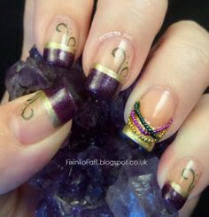 Fixin To Faff: Mardi Gras French Tips and Beads - TPTC