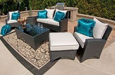 The Marchesa Collection 6-Piece All Weather Wicker Patio Furniture Deep Seating Set With Loveseat by Open Air Lifestyles, LLC. $3044.38. This beautiful all weather wicker deep seating set is exclusive to Outdoor Air Lifestyles, LLC. It is designed and produced by us only!! The Marchesa all weather wicker patio furniture is absolutely breathtaking in person. It has the curved lines and modern flair that will be a work of art in any living space. The Marchesa outdoor ...