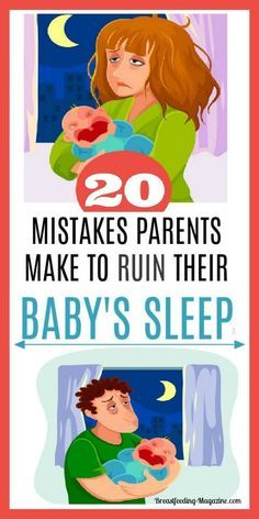 Baby Sleep Problems? Top 20 mistakes that parents make that ruin their baby's sleep. Get baby to sleep through the night instead. #babysleep #momtips