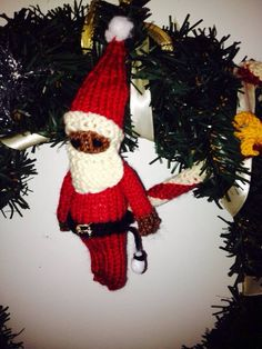 Brown Santa for Katharine Xmas wreath 2013