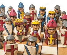 This chess set by Vernon DePauw can be easily customized to represent your favorite feud.