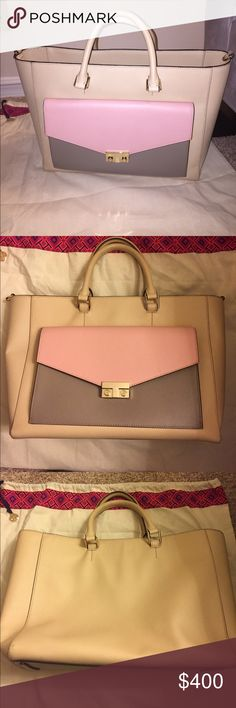 🎀TORY BURCH T-Lock Tote 🎀 100% Authentic Tory Burch Tote Style# 11159837. Worn very lightly. No visible signs of wear! LIKE NEW WITH TAGS! Saffiano leather, open top with central, interior zip divider. Exterior push-lock flap pocket. Interior zip divider; zip, wall, and smartphone pockets. Comes with dust bag. 💞 Tory Burch Bags Totes