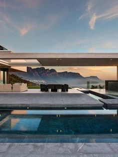SAOTA Architecture & Design completed this spectacular family home with an inverted pyramid roof, located in Cape Town, South Africa. Open House Plans, Copper Roof, Courtyard House, Conceptual Design, South Florida, Cape Town, Architecture, Decoration, Exterior Design