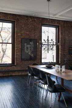 New York Dreaming: Dean Di Simone's Soho Loft – Design & Trend Report Estilo Interior, Home Interior, Interior Architecture, Interior And Exterior, Interior Decorating, Interior Design, Brick Interior, Classical Architecture, Luxury Interior