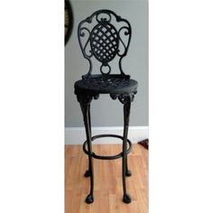 Basket weave bar stools with ball and claw feet Perfect for the garden!