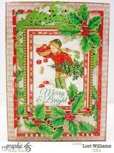 "Christmas Card usiin G45c""Twas the Night Before Christmas"" collection"