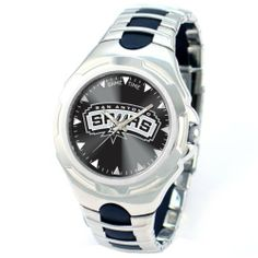 NBA Men's NBA-VIC-SA Victory Series San Antonio Spurs Watch Game Time. $67.95. Water-resistant to 99 feet (30 M). Officially licensed team logo and colors. Stainless steel case back. Adjustable sport buckle. Precise Japanese miyota Quartz movement