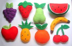 Resultado de imagem para molde frutas feltro
