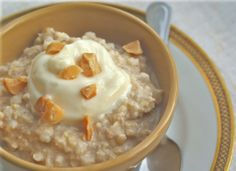 Winter Comfort Food: Baked Rice Pudding--can be made superhealthy with a few minor adjustments