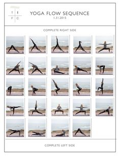 A yoga sequence complete with a full body workout from head to toe!