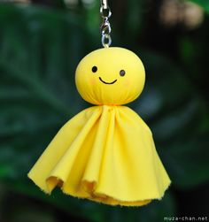 "If you visit Japan, especially during the rainy seasons, you can encounter some curious looking dolls, made of paper or cloth, hanging at the windows. The dolls are called teru teru bozu 「てるてる坊主」 (meaning something like ""shiny-shiny Buddhist monk"" or ""shiny-shiny bald-headed"") and are amulets for good weather, believed to have the magical power to stop or even prevent the rain."