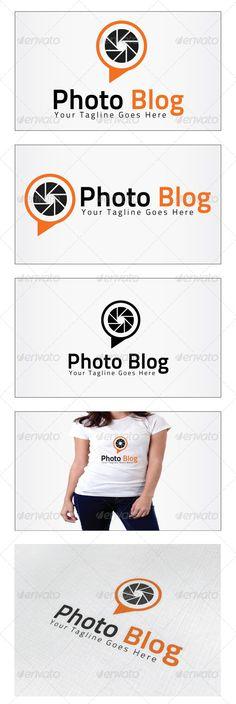 Photo Blog  Logo Design Template Vector #logotype Download it here: http://graphicriver.net/item/photo-blog-logo/5192973?s_rank=1477?ref=nexion