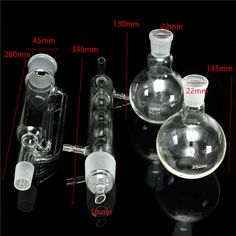 250ml Soxhlet Extractor Spherical Fat Extractor With 2 Bottle Lab Glassware