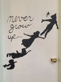 Peter Pan painting for my kids' door as a reminder