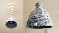 crochet lamp shade
