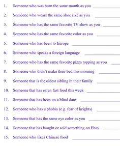 Get to know you icebreaker questions