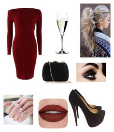 """""""Night out!"""" by ariannadubois ❤ liked on Polyvore featuring Christian Louboutin, Serpui and Riedel"""
