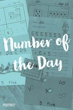 This is HUGE set of DIFFERENTIATED printables for Number of the Day activities. These are designed for small math intervention groups, or have on hand for morning work and during math centers. Engage Ny, Inclusion Classroom, Eureka Math, Math Groups, Math Intervention, Resource Room, Guided Math, First Grade Math, Morning Work