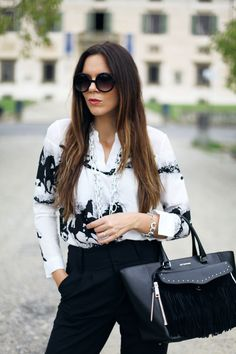 look fashion | irene closet | irene colzi | outfit black and white | look BW