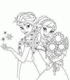desenhos para colorir de frozen uma febre congelante