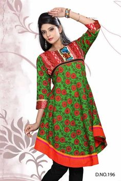 Multicoloured printed kurti in a soft cotton.  Comes with seperate cap sleeves that are not attached.   £35
