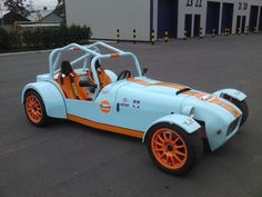 Lotus Super 7 tribute.  Gulf Livery