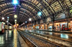 Aren't those lights cool? That is the real color of those lights… no photoshop trickery… - Milan, Italy - Photo from #treyratcliff Trey Ratcliff at http://www.StuckInCustoms.com