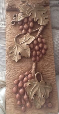 Carved grapes