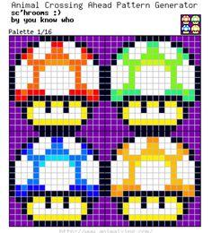 Mario Bros. S'hrooms_Palette 1/16