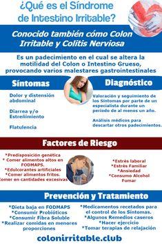 Aprende de qué trata el Síndrome de Intestino Irritable. Cuáles son sus síntomas, factores de riesgo y tratamiento Risk Factor, Factors, Health Education, Health Tips, Healthy Life, Crunches
