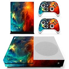 SKINOWN Xbox One S Slim Skin Cosmic Nebular Sticker Vinly Decal Cover for Xbox One SlimXB1 S Console and 2 Controller Skins * You can get additional details at the image link.Note:It is affiliate link to Amazon.