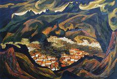 The Art Room. Oswaldo Guayasamín, Paisaje de Quito.