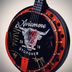 Gentlemen of the Road Aviemore Stopover Goodtime banjo signed by Mumford & Sons!