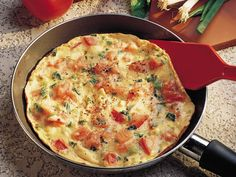 Mediterranean Eggs; will try with sun dried tomatoes, garlic, and spinach (like Papa Murphy's pizza)